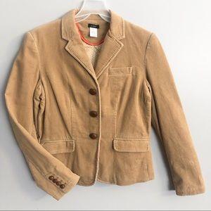 J. Crew Corduroy Camel Blazer Cotton Jacket M